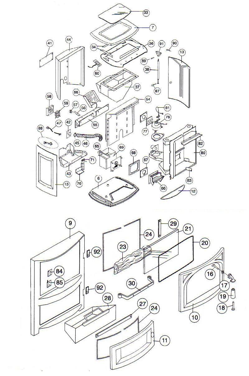 reliance pellet stove vermontcastings parts online. Black Bedroom Furniture Sets. Home Design Ideas