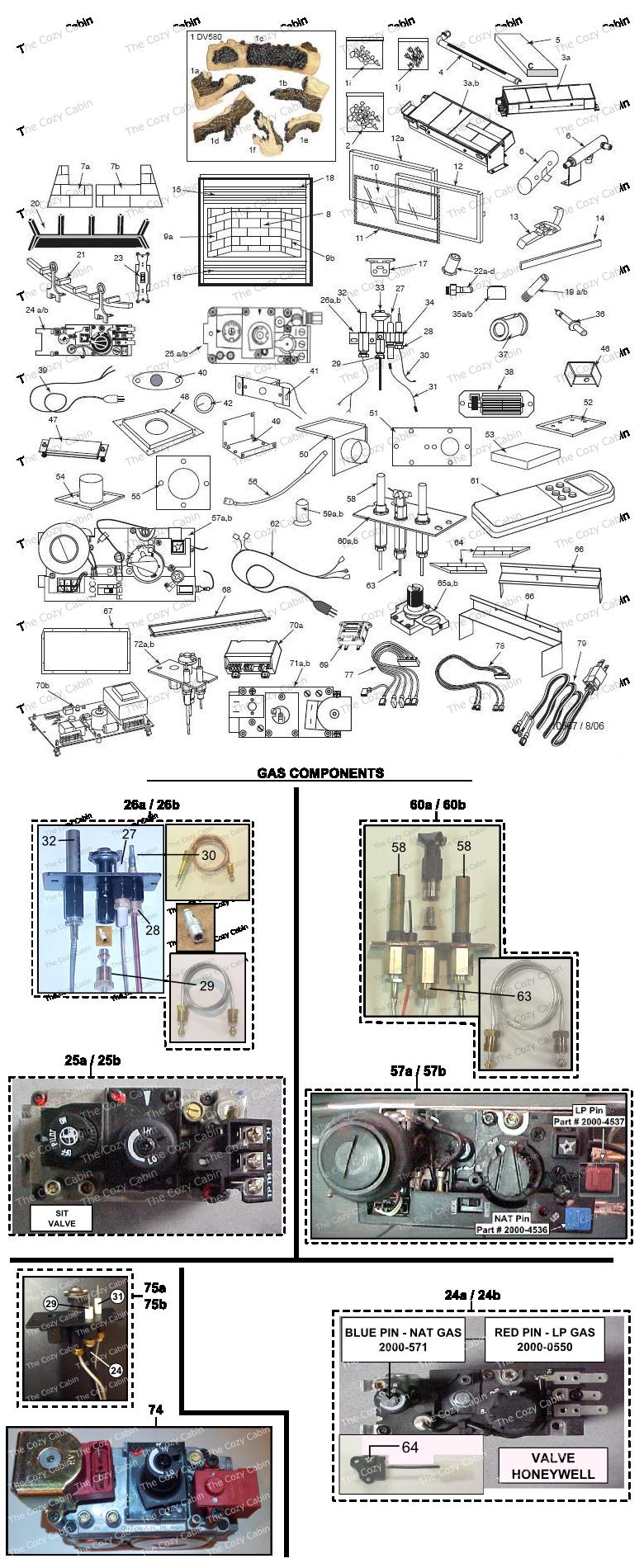 dv580 gas fireplace vermontcastings parts online parts store
