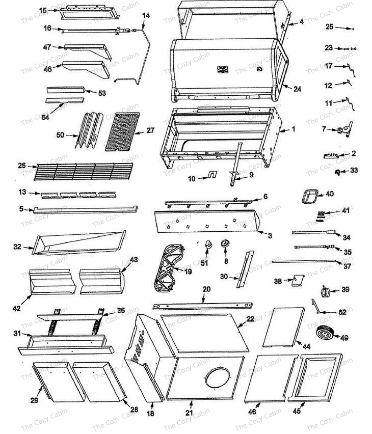 vermont castings bbq grill vcs4000 vermontcastings parts. Black Bedroom Furniture Sets. Home Design Ideas