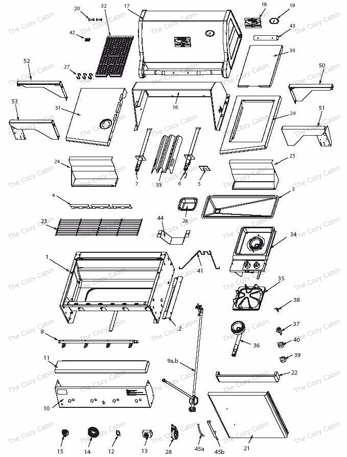 vermont castings bbq grill vcs4005 vermontcastings parts. Black Bedroom Furniture Sets. Home Design Ideas