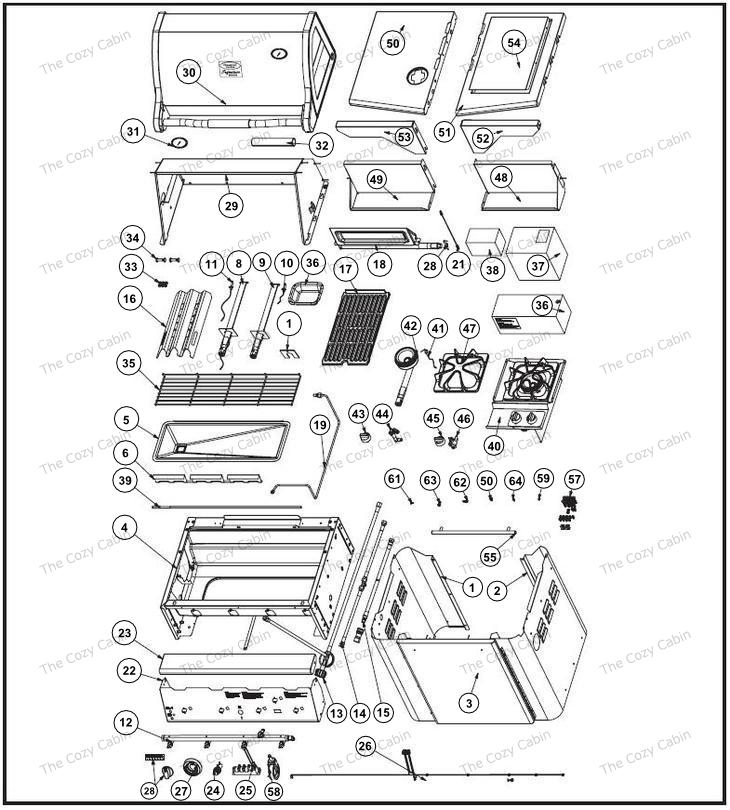 vermont castings bbq grill vcs4007 vcs4017 vcs4027 vcs4037. Black Bedroom Furniture Sets. Home Design Ideas