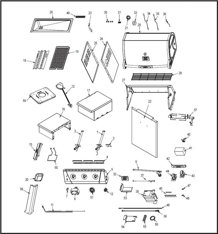 vermont castings bbq grill vcs310 vermontcastings parts. Black Bedroom Furniture Sets. Home Design Ideas